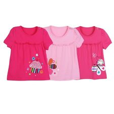 Lovely Baby Kids Child Girls Cotton Printed Short Sleeve Tees T-Shirts Tops