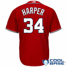 Majestic Bryce Harper Washington Nationals Red Cool Base Player Jersey