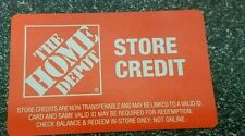 Home Depot Gift Card merchandise return card $168.00
