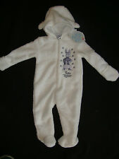 PETER RABBIT SOFT & FURRY HOODED  ROMPER   NWTS WHITE