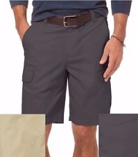 NEW Men's Chaps Cotton Ripstop Cargo Big & Tall Flat Front Shorts MSRP $72 NWT