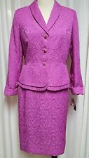 NWT Ladies Pink Skirt Suit by John Meyer Size 8 Retail $260