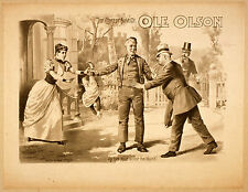 Photo Print Vintage Poster: Stage Theatre Flyer Ole Olson A01