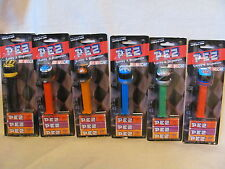 PEZ - NASCAR DISPENSERS 2005 - COMPLETE SET OF 6 HELMETS - NEW ON CARD!