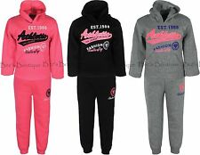 Girls Jogging Suits Kids Hoodie Top & Joggers Childrens Clothing Ages 2-12 Yrs