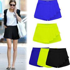 Fashion Womens Irregular Tiered Culottes OL Skorts Slim Shorts Skirt Short Pants
