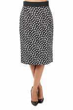 DOLCE & GABBANA New woman Black White Pencil viscose Skirt Made in Italy