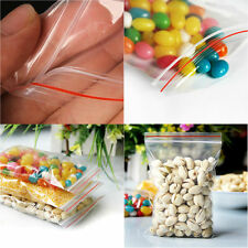 100 Pcs Resealable Plastic Zip Lock Bags Clear Poly Ziplock Reclosable 14 Size