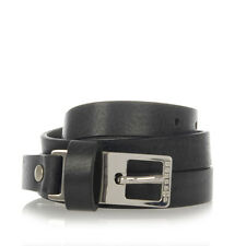 MARTIN MARGIELA MM11 Men Black Leather Belt Made in Italy New with Tag