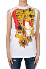 DSQUARED2 Dsquared² Women Sleeveless Printing T-shirt Cotton Made in Italy