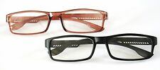 Z020 2 x PAIRS GREAT VALUE Reading Glasses +1.5+2.0+2.5 Choice of Black or Brown