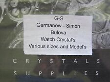 NOS GS X Watch Crystal for Vintage Bulova Wristwatches