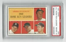 1961 Topps AL Home Run Leaders with Mickey Mantle, Maris ++ *  #44 * PSA 8 NM-MT