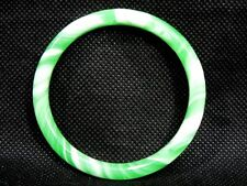 Chinese Oriental Natural Green Jade Round Bangle Bracelet  Jewelry