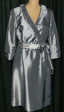 NWT Silver V-Neck Dress by Alex Marie Size 10 Retail $129