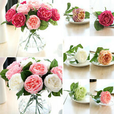 1/5 Real Fabric Touch Rose Flower Flower Wedding Home Design Bouquet Decor New .