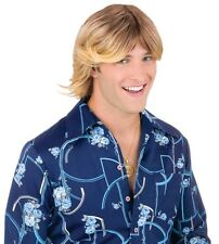 LADIES MAN 70S SURFER DUDE BROWN OR BLONDE WIG COSTUME ACCESSORY FW92546