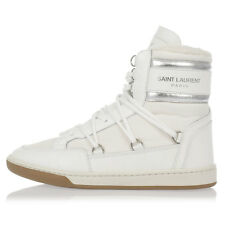 SAINT LAURENT Woman Leather and Fabric COURT CLASSIC Sneakers