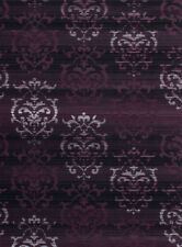 Purple Contemporary All-Over Area Rug Vines Curls Curves Polypropylene Carpet