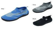 MENS WATER AQUA  SHOES SOCKS POOL BEACH SWIM  7 8 9 10 11 12 13 BLACK BLUE GRAY