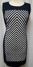 NWT Navyand White Sleeveless Dress Calvin Klein Size 12 Retail $89