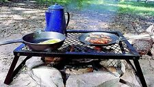 Heavy Duty Over Fire Camp Grill /Steel 3-Sizes foldable mesh cookware Texsport