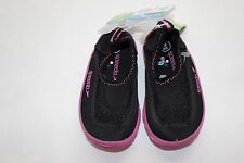 Speedo Water Shoes Size S 5 6 Girl's FREE Ship Black Mesh Rubber Sole NWT
