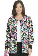 Scrubs Dickies Snap Front Warm-Up Jacket Purrfect Petals 84300C PRPT  FREE SHIP