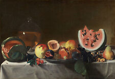 "Pensionante del Saraceni : ""Still Life with Fruit and Carafe"" — Fine Art Print"