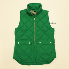 J. Crew Excursion Quilted Down Vest NWT Color: Emerald Pool Size: XS S M