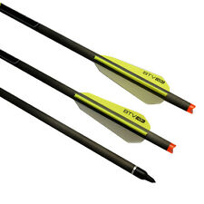 """22"""" Crossbow Bolts Archery Carbon Arrows Hunting Field Points BTV Vanes OD 8.8mm"""