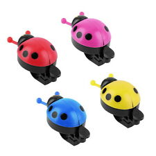 Lovely Kid Beetle Ladybug Ring Bell For Cycling Bicycle Bike Ride Horn Alarm PR