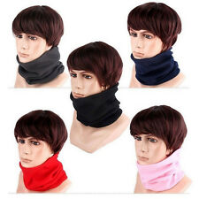 Adults Fleece Neck Warmer Thermal Snood Scarf Face Mask Beanie Hats Wear