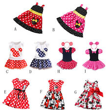 Baby Girls Kids Minnie Mouse Birthday Party Outfits Top Skirt Tutu Dress Clothes