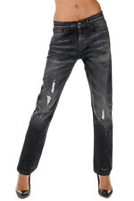GUCCI New Woman black Denim Stretch Jeans Pants Made in Italy NWT