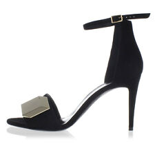 PIERRE HARDY New woman Black Leather Sandals Shoes Made in Italy NWT