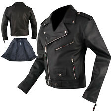 Bikers leather Cruiser Motorcycle Jacket Motorcycle Cow Hide All Season A-PRO