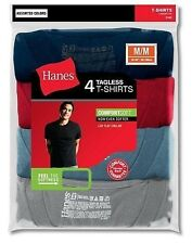 Hanes Mens Assorted Colors ComfortSoft Dyed Crewneck T-Shirt 4-Pack  Sz. S-2XL