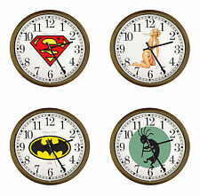 "NOVELTY THEMED LOGO 15"" ROUND WALL CLOCK CAPPUCCINO ESPRESSO FINISH FRAME"