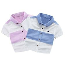 Summer Boys Shirts Short Sleeve Kids Shirts Baby Boys Blouse Tops Child Clothes
