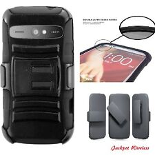 For ZTE Warp Sync N9515 Heavy Duty Rugged Stand Belt Clip Holster Case Cover