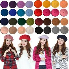 Fashion Newest Solid Color Warm Wool Women Girl Beret French Artist Beanie Hat