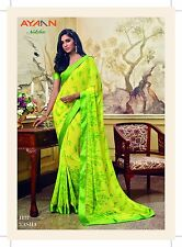 BOLLYWOOD PARTY SAREE TRADITIONAL PURE GEORGETTE SARI DESIGNER INDIAN SAREE_AS