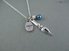 Pen Nib Word Charm Necklace - Writer Gift - Author Gift