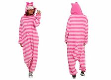 Disney Alice in Wonderland Cheshire Cat Hooded Adult Soft Furry Pajamas Costume