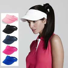 Mens Womens Sports Sun Visor Protector One Size Cotton Twill Golf Tennis Cap New