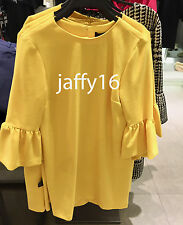 ZARA DRESS WITH FRILLED SLEEVES YELLOW XS-XL REF. 7149/051