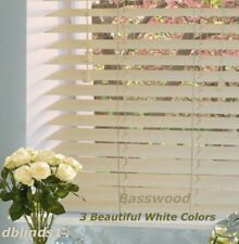 "2"" DELUXE BASSWOOD (REAL WOOD) BLINDS 33 7/8"" WIDE x 61"" to 72"" LENGTHS"