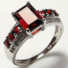 Best Gift Size 7,8,9,10,11 Red Garnet Gold Filled Fashion Anniversary Lady Ring