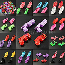 40-120Pcs Mix Color Fashion High Heel Shoes Cloth Accessories For Barbie Doll Ne